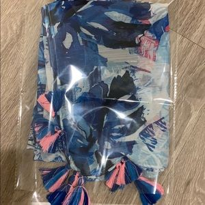 Nordstrom scarf wrap/blue-pink pineapple
